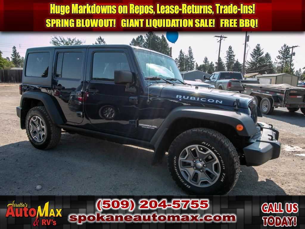 Pre-Owned 2013 Jeep Wrangler Unlimited Rubicon 4x4 3.6L V6 Manual SUV
