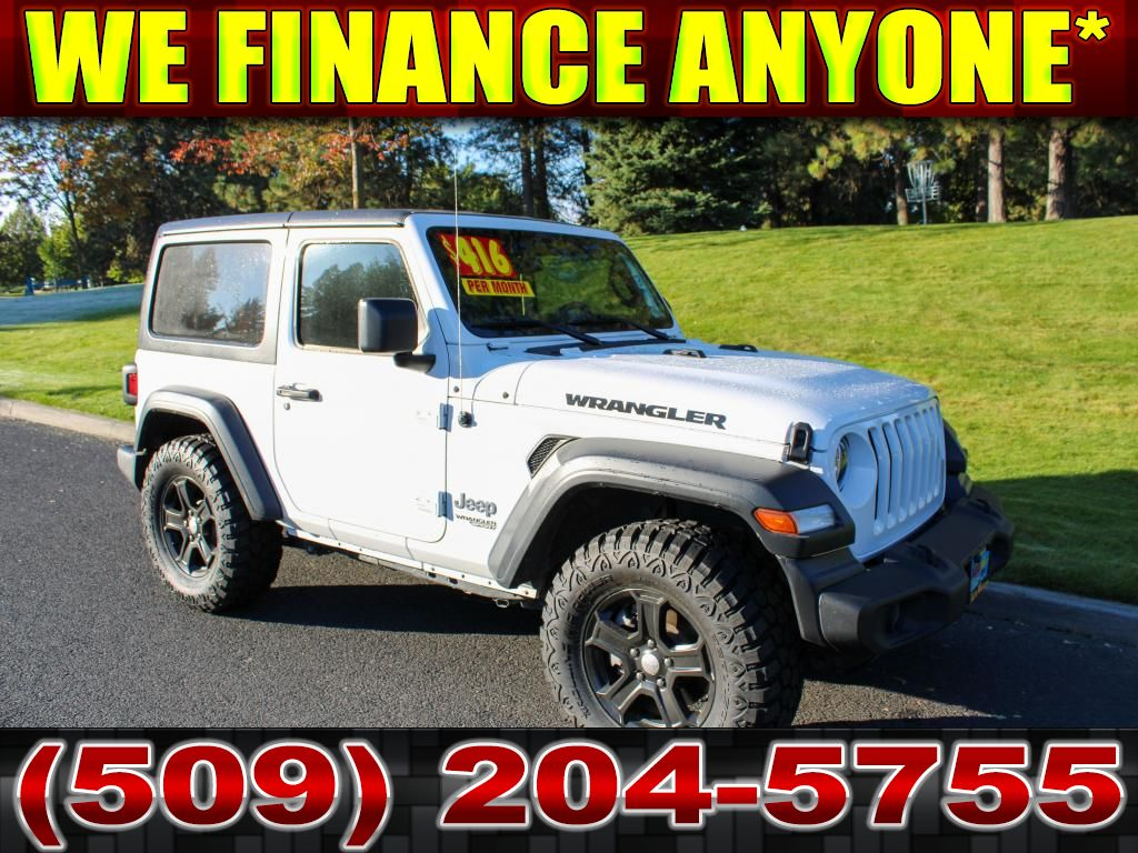 Pre-Owned 2019 Jeep Wrangler Sport S LEVEL KIT+MT TIRE PACKAGE