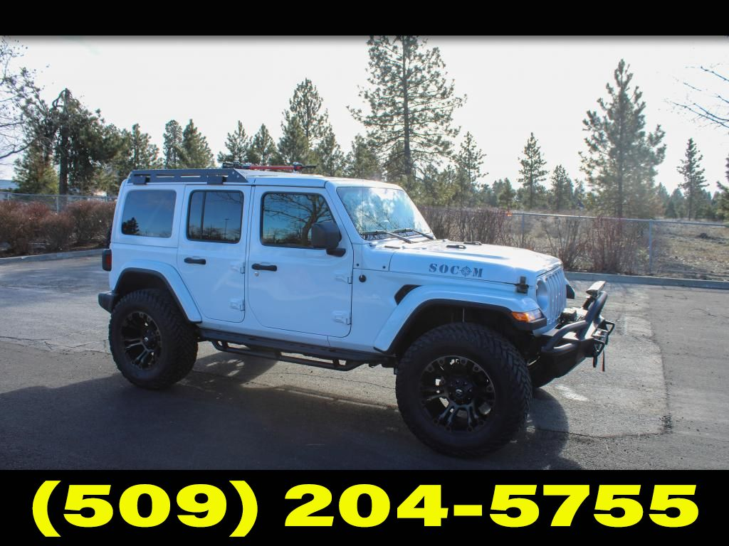 Pre-Owned 2019 Jeep Wrangler Unlimited Sahara SOCOM 3.6L V6 4x4 SUV