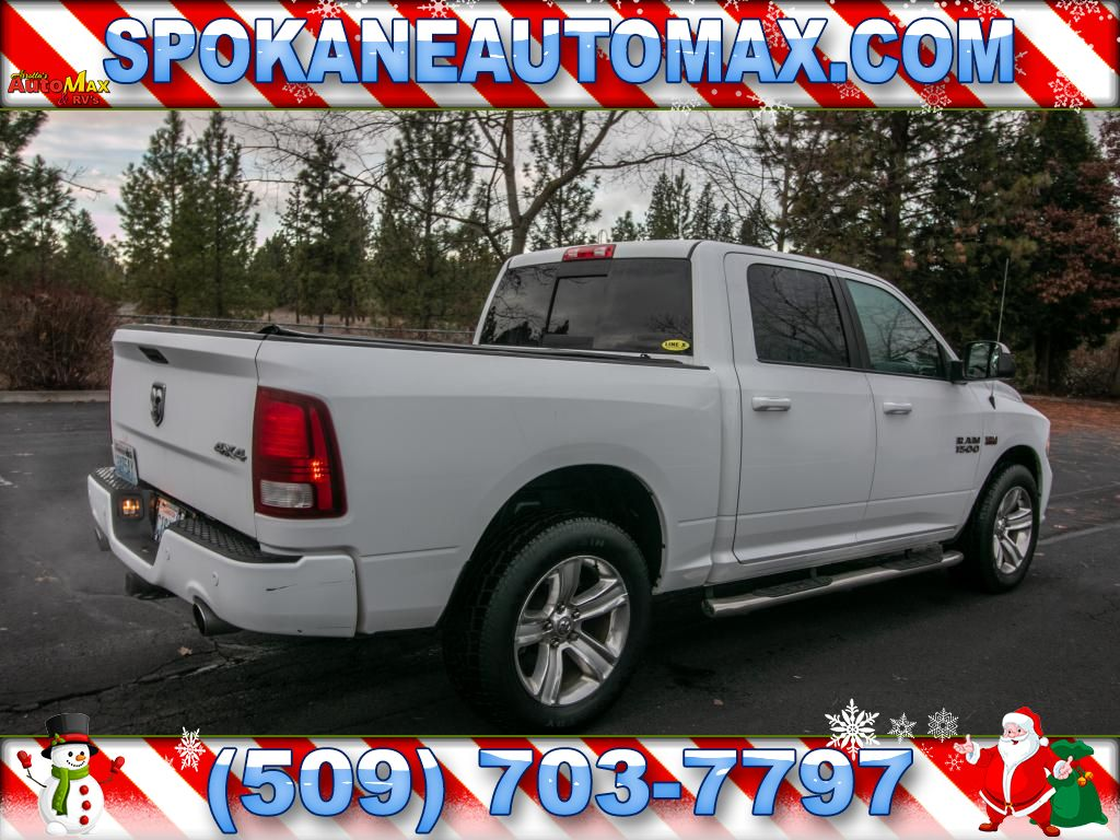 Pre Owned 2014 Ram 1500 Sport 57l V8 4x4 Pickup Truck 4wd Crew Cab Dodge Projector Headlights