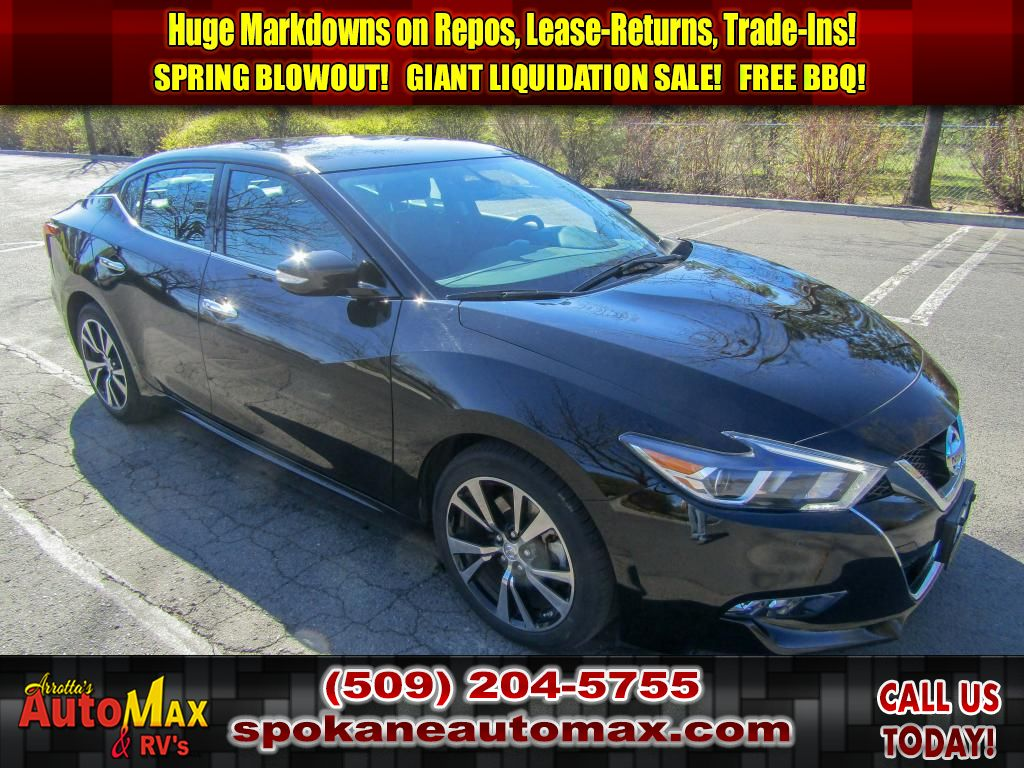Pre-Owned 2018 Nissan Maxima SV 3.5L V6 Front Wheel Drive Sedan