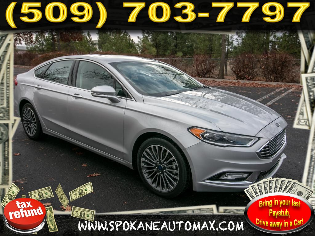 Pre owned 2017 ford fusion titanium 2 0l all wheel drive sedan