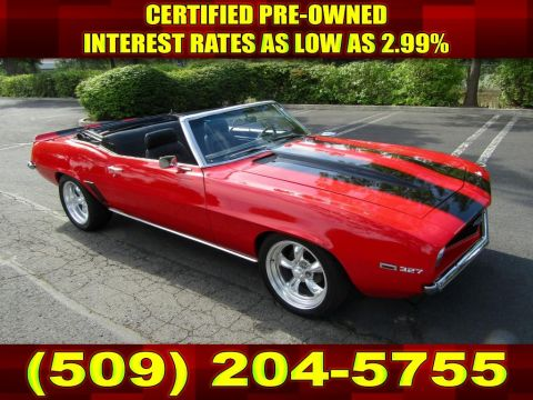 Pre-Owned 1969 Chevrolet Camaro 327 V8 Convertible MECUM Muscle Car