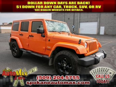 Pre-Owned 2013 Jeep Wrangler Unlimited Sahara 4x4 3.6L V6 Jeep