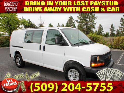 Pre-Owned 2017 Chevrolet Express 2500 HD V8 CARGO VAN loaded