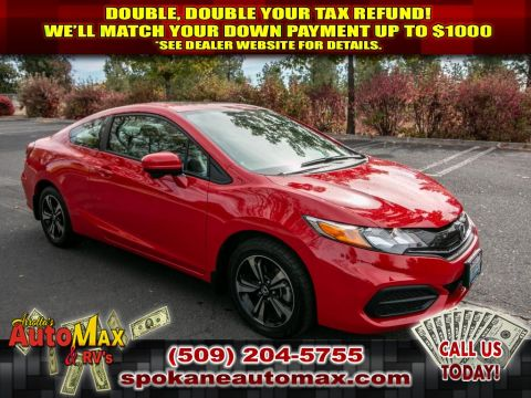 Pre-Owned 2015 Honda Civic EX 1.8L Front Wheel Drive Coupe