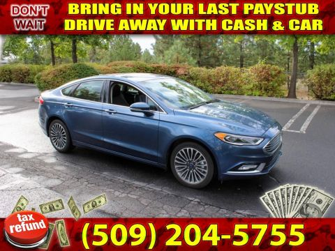 Pre-Owned 2018 Ford Fusion AWD Titanium All Wheel Drive Sedan